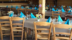 table-serviettes-bleues